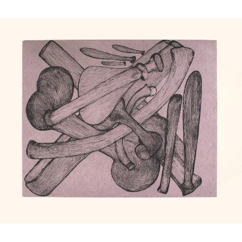 Purple Bones by Shuvinai Ashoona 21-13 2021 Dorset Print Collection
