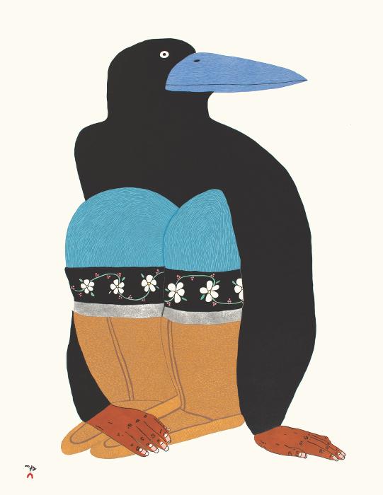 No Turning Back by Ningiuluku Teevee 21-16 2021 Dorset Print Collection