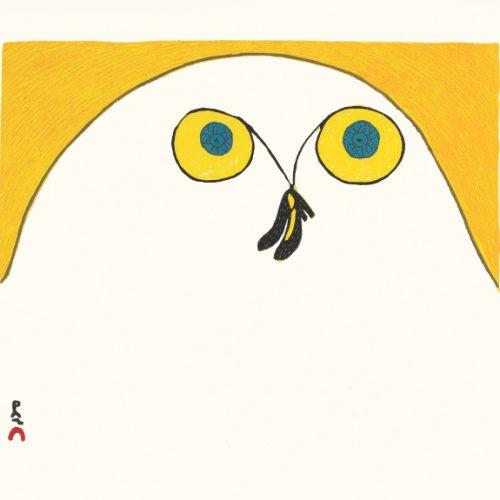Strutting Owl by Ningiuluku Teevee 21-16 2021 Dorset Print Collection