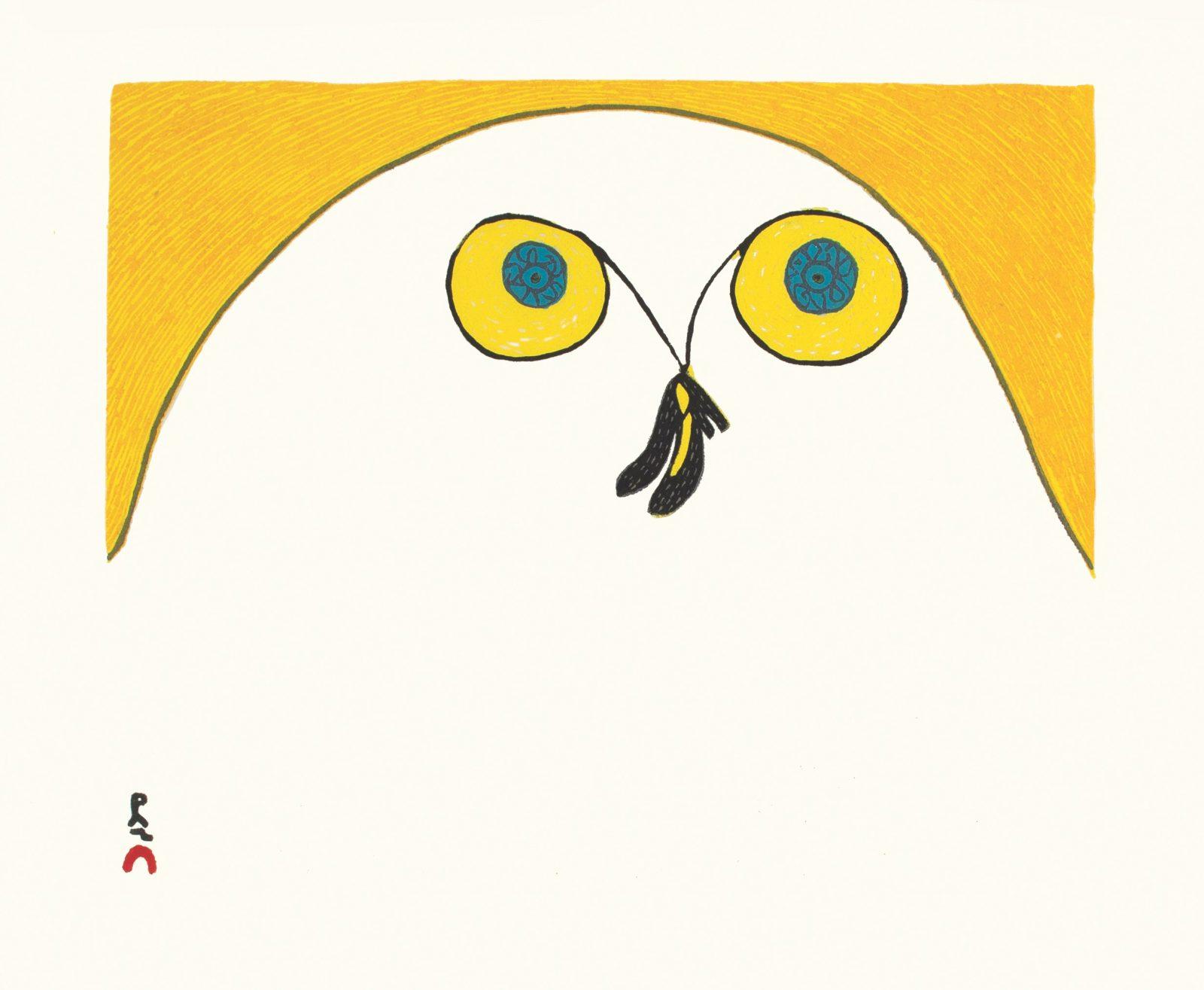 NINGIUKULU TEEVEE Strutting Owl Cape Dorset Print 2021