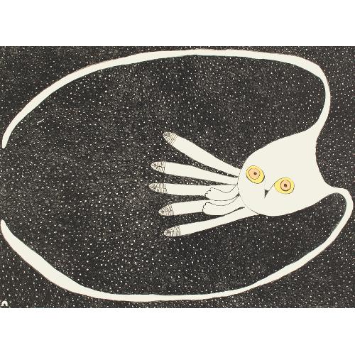 Cosmic Owl by Ningiukulu Teevee 21-16 2021 Dorset Print Collection