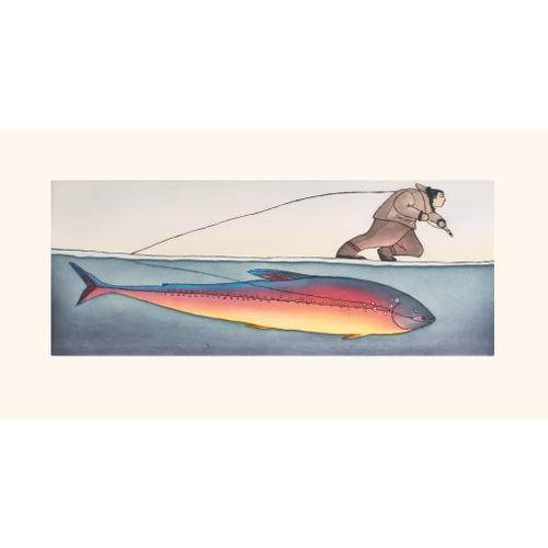 Morning Catch by Ningiukulu Teevee 21-16 2021 Dorset Print Collection