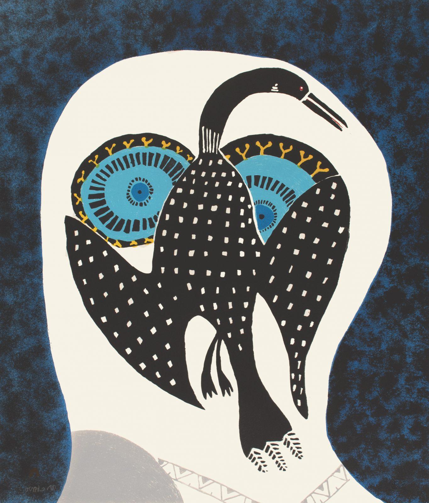 NINGIUKULU TEEVEE Owl Dreams of Loon Cape Dorset Print 2021