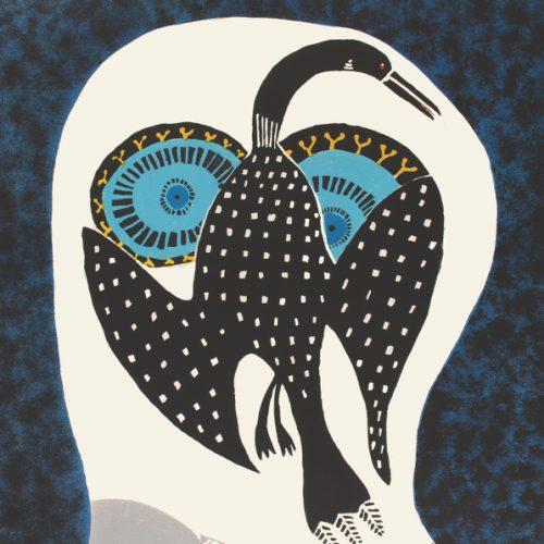 Owl Dreams of Loon by Ningiukulu Teevee 21-16 2021 Dorset Print Collection