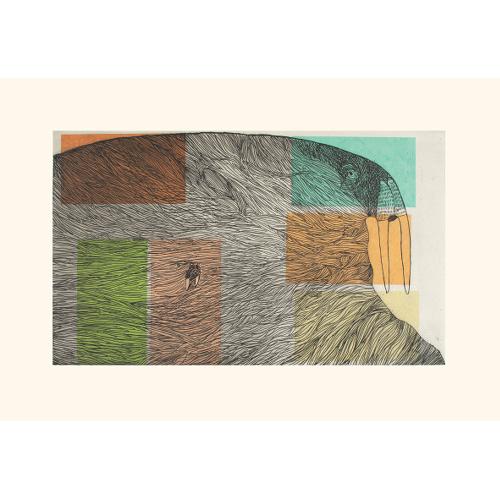 Ancestral Walrus by Ningiukulu Teevee 21-16 2021 Dorset Print Collection