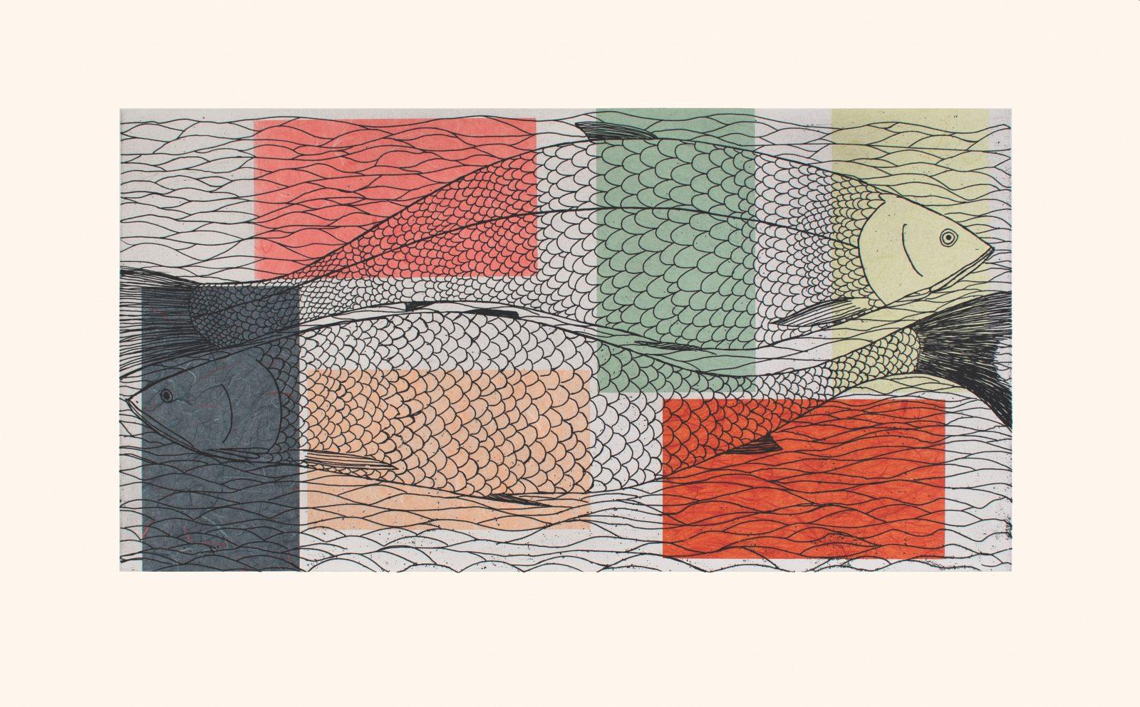 NINGIUKULU TEEVEE Passing Char Cape Dorset Print 2021