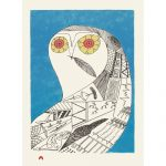 Eclectic Owl by Ningiukulu Teevee 21-16 2021 Dorset Print Collection