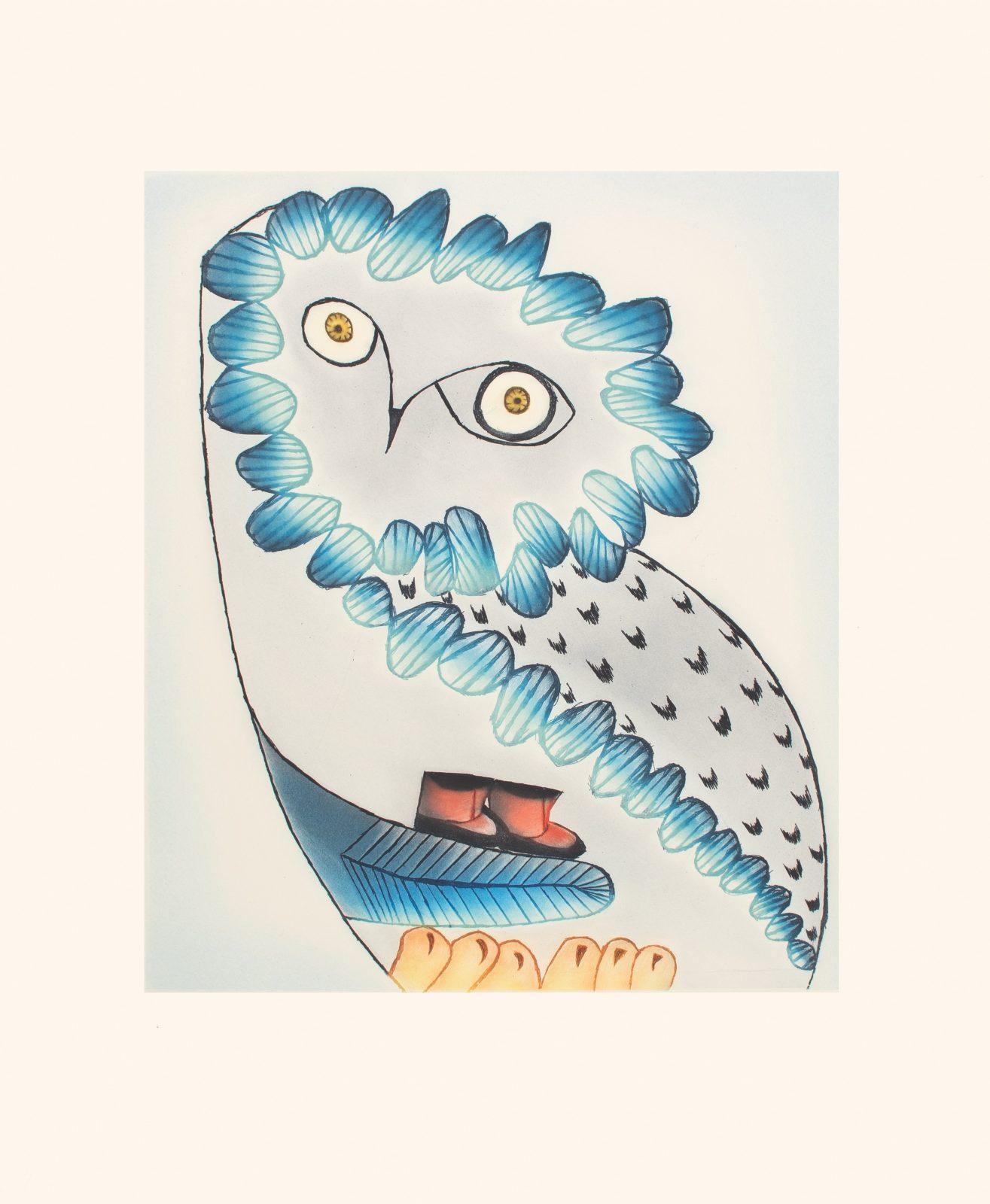 NINGIUKULU TEEVEE Owl's Bequest Cape Dorset Print 2021