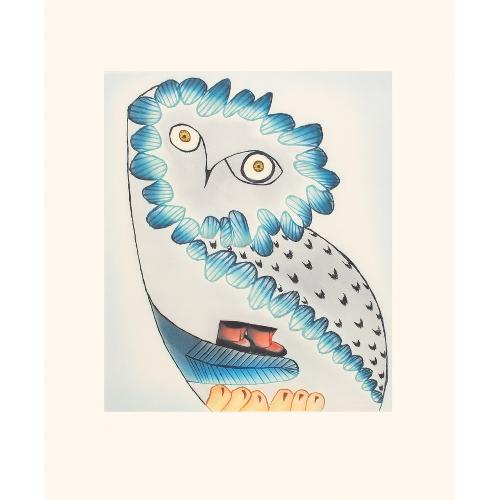 Owl's Bequest by Ningiukulu Teevee 21-16 2021 Dorset Print Collection