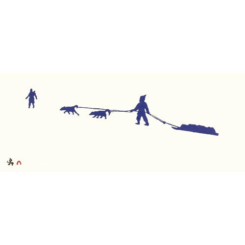 Midnight Crossing by Padloo Samayualie 21-16 2021 Dorset Print Collection