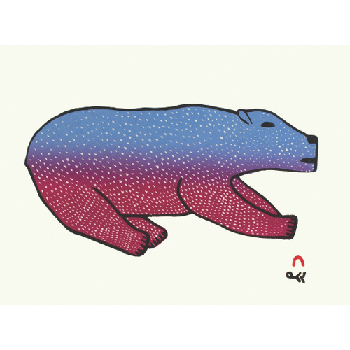 Bounding Bear by MALAIJA POOTOOGOOK 21-28 2021 Dorset Print Collection