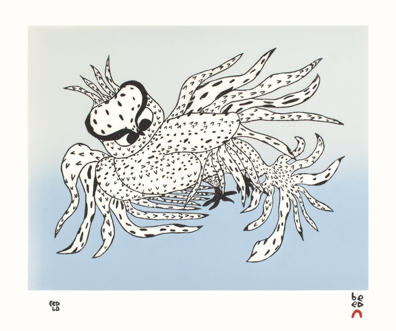 OOLOOSIE SAILA 31. Besotted Owl Cape Dorset Print 2021
