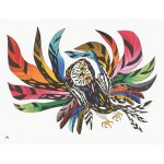 Festive Owl by Ooloosie Saila 21-32 2021 Dorset Print Collection